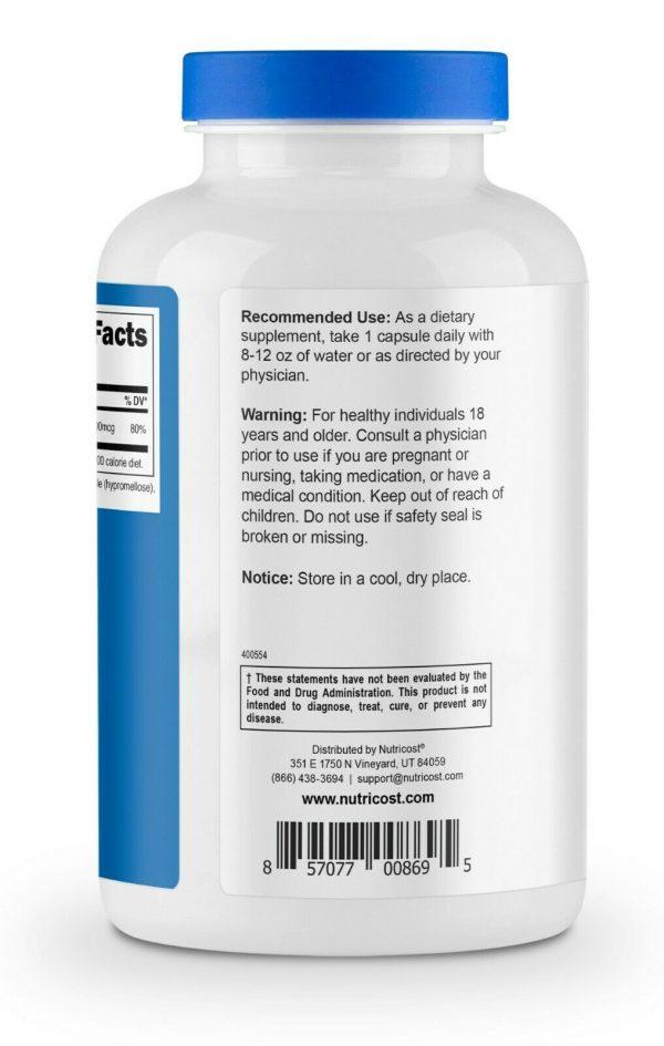 Nutricost Vitamin K2 (MK4) 100mcg, 240 Caps - Gluten Free and Non-GMO 4