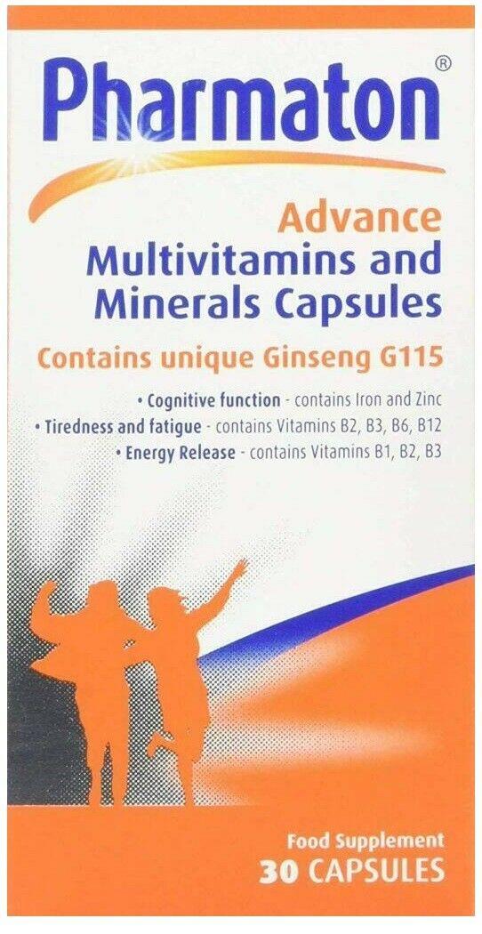 Pharmaton Capsules 100Capsules/30Capsules (containing Unique Ginseng G115) 2