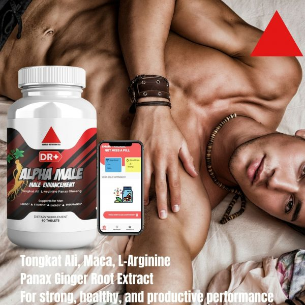Alpha Male Testosterone Booster L Arginine, Maca, Ginseng Extract for Men 4
