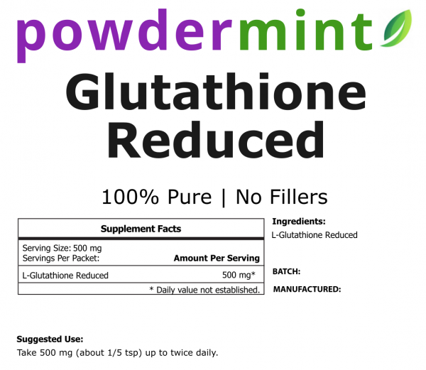 Glutathione Reduced Powder 100% Pure (Variations) 2