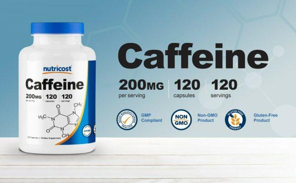Nutricost Caffeine 200mg Pills, 120 Capsules, 120 Servings 2