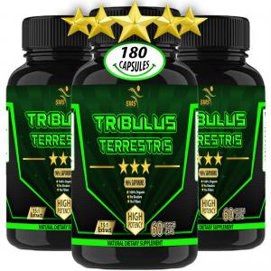 180 Caps TRIBULUS TERRESTRIS 96% SAPONINS EXTRACT BODY BUILD TESTOSTERON BOOST