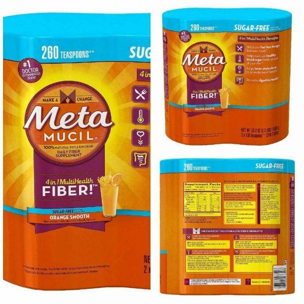 Metamucil MultiHealth Fiber, Sugar Free, 260 Doses NEW! Free Shipping! 1