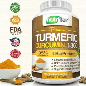 ▶ 2X Turmeric Curcumin Root w/ Bioperine®, 1300mg, 95% Curcuminoids (240 Caps) 1