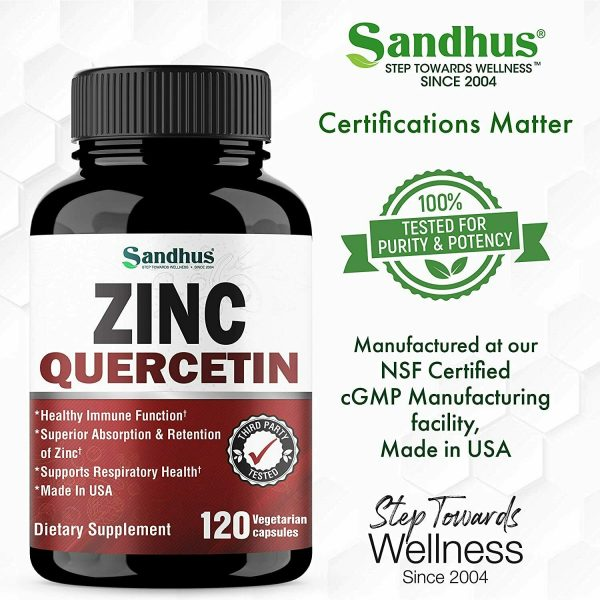 Zinc with Quercetin 120 Capsules - Best Quercetin Zinc Supplement 4