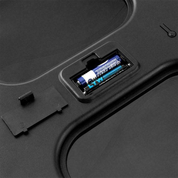 400lb Digital Body Weight Scale Bathroom Fitness Backlit LCD 180kg + 2 Battery 5