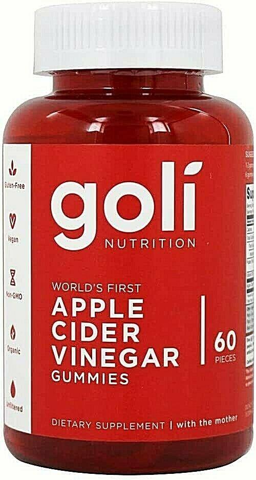 60 Count Gummies Bottle - Goli Apple Cider Vinegar Gummies Vitamins ACV Gummy