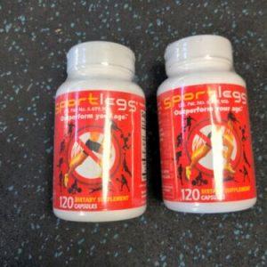 (2 Pack) Sport legs 120 Capsule Bottles Sportlegs Anti-Cramp 1