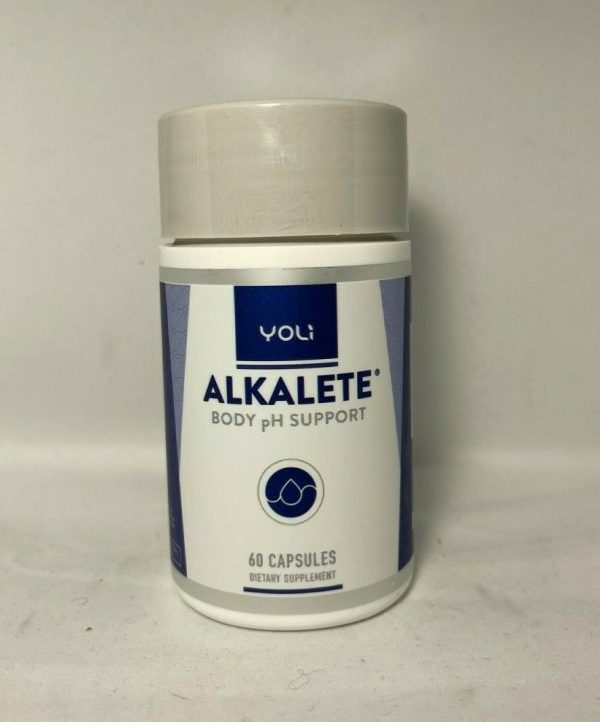 Yoli A Alkalete - Body PH Support - 60 Capsules - New / Sealed!  Exp 6/2022!
