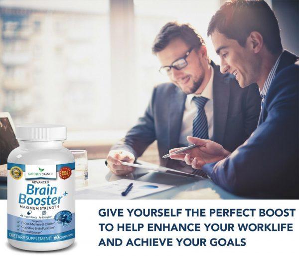 ADVANCED Brain Booster Supplement Memory Focus Mind & Clarity Enhancer Nootropic 6