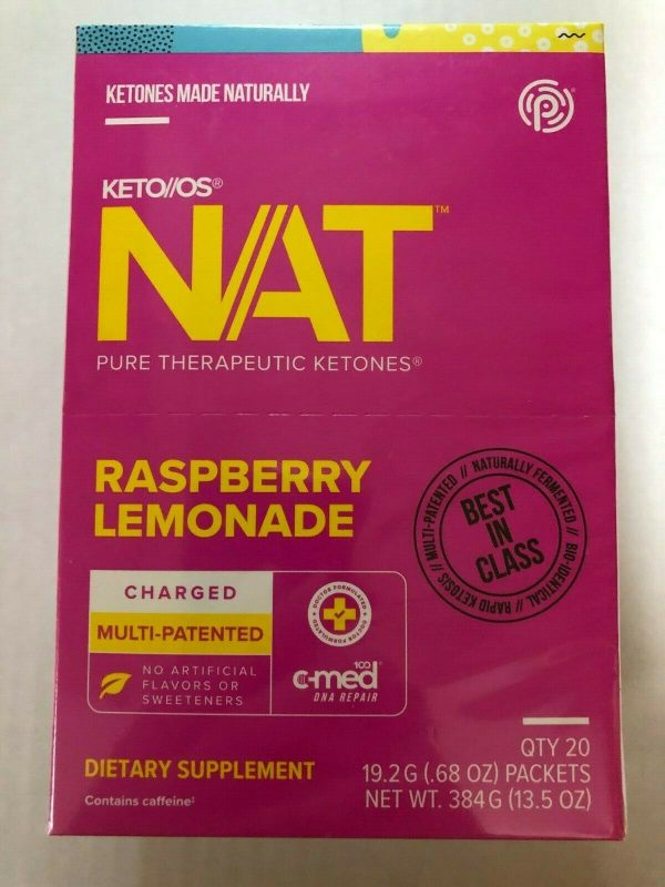 Pruvit NAT KETO//OS Raspberry Lemonade 20 Packets New Box Sealed Free Shipping