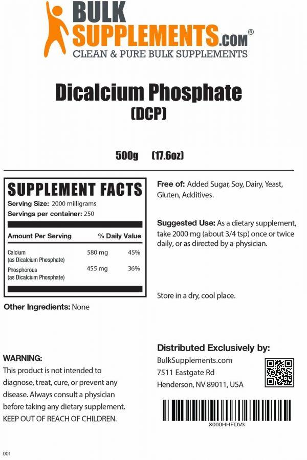 BulkSupplements.com Dicalcium Phosphate (DCP) 3