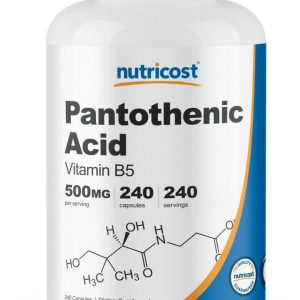 Nutricost Pantothenic Acid (Vitamin B5) 500mg, 240 Capsules - High Quality