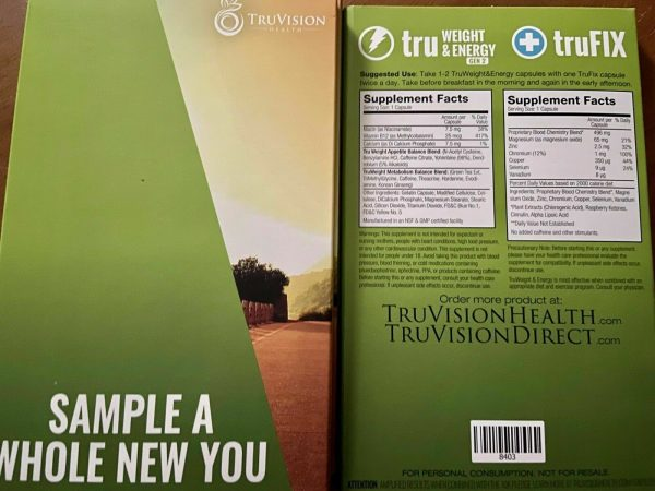 TRUVISION Health 2 Wk WEIGHT LOSS Tru Weight & Energy 15 Day DIET Control Fix  4