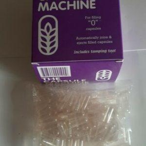 """CAPSULE MACHINE -- """"0"""" size PLUS 100 Empty CAPSULES"""