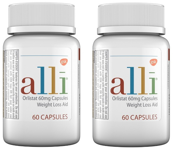 ALLI Weight Loss Aid 120 Pill / Capsule Refill Pack Orlistat 60mg Ali Ally Allie 2