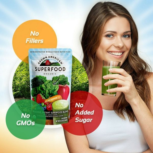 Grown American Superfood: 31 Organic Whole Fruits and Vegetables in Every Scoop! 1