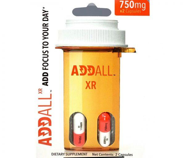 Addall XR Brain Boost Supplement 750mg per pill Fast Ship 2