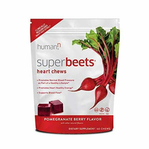 HumanN SuperBeets Heart Chews | Grape Seed Extract and Non-GMO Beet Powder Helps