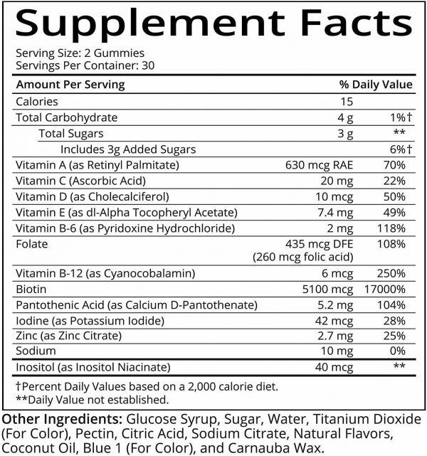 SugarBearHair Vitamins, Vegetarian Gummy Hair Vitamins 3 Pack (3 month supply) 1