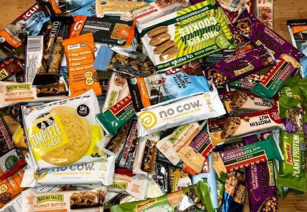 ~90 (9lb) Assorted Brand NUTRITION PROTEIN ENERGY BARS Luna PowerBar Gatorade 4