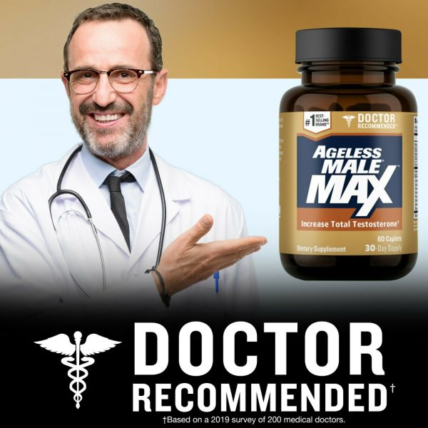 Ageless Male Max Testosterone Booster by New Vitality - 60 Caplets FREE Shipping 1