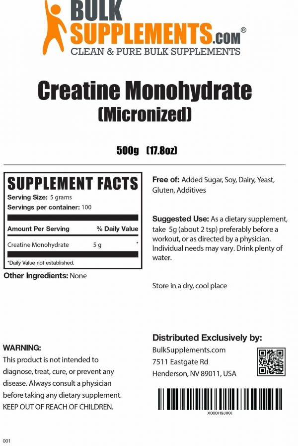 BulkSupplements.com Creatine Monohydrate (Micronized) 4