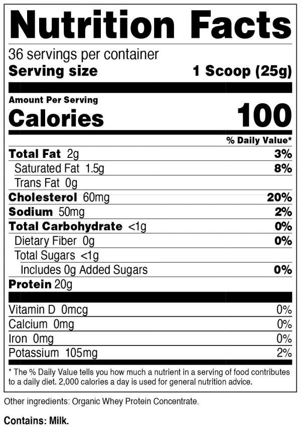 Nutricost Organic Whey Protein Powder (Unflavored) 2 LB - Non-GMO 1