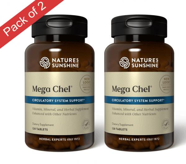 Natures Sunshine Mega-Chel (120 Tablets) Pack of 2 1