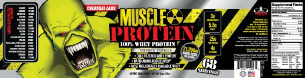 Colossal labs Whey Protein powder 10LB Monster Muscle isolate/blend 136 servings 4