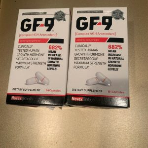 2 x Novex Biotech GF-9 Growth Factor 9 Supplement 168 capsules  Exp 5/2023