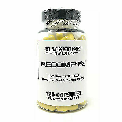 BLACKSTONE LABS Recomp Rx Build Muscle & Burn Fat 120 Caps FREE SHIPPING