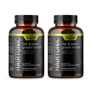 Hair Growth Supplement for Men - Hair Tonic with Biotin, Keratin, Bamboo  2 Pack
