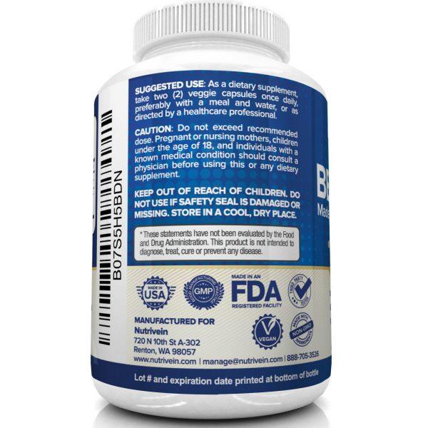 Nutrivein Premium Berberine HCL 1200mg Plus Organic Ceylon Cinnamon - 120 Pills 6