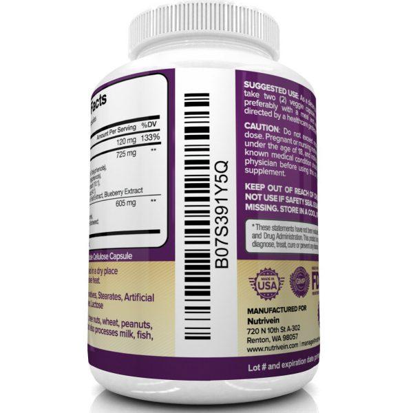 Nutrivein Resveratrol 1450mg - 120 Capsules - Anti-Aging Antioxidant Supplement 5