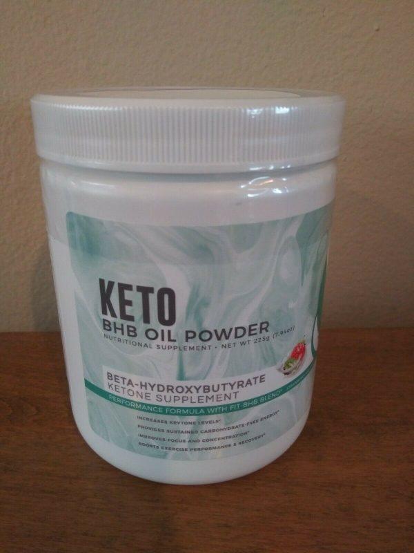 NEW KETO BHB OIL POWDER STRAWBERRY KIWI FLAVOR Ketone Supplement BY FITORU