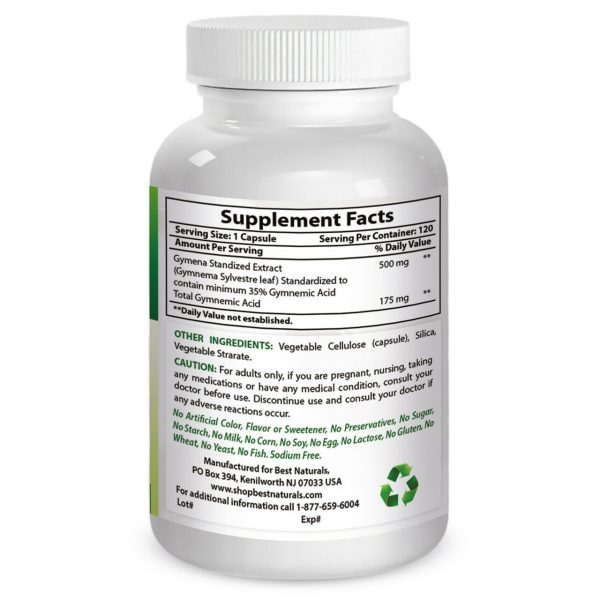 Best Naturals, Gymnema Sylvestre 500 mg 120 Caps *Manages Sugar Cravings* 2