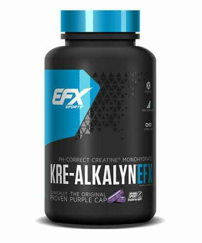 EFX Sports Kre-Alkalyn - 100% pH-Correct Creatine Monohydrate (240 Capsules)