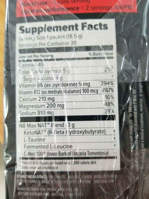 New Pruvit Keto NAT Maui Punch Charged 10 Pack Drink Packets FAST FREE SHIPPING 2