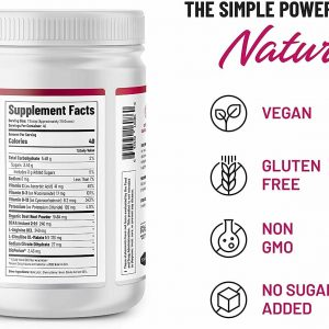 Beet Root Powder Organic Nitric Oxide Booster Beets Circulation Superfood - 306g 1