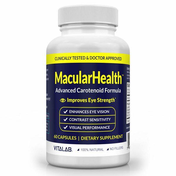 Macular Health Advanced Eye Vision Formula Improves Eye Strength Pills 60 Caps 1