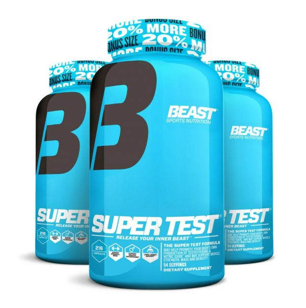 Beast Sports Super Test 216 ct: The Ultimate Testosterone Booster: Best by 4/21 4