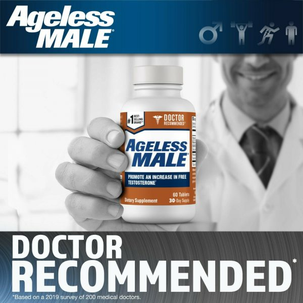Ageless Male Free Testosterone Booster by New Vitality - NEW - 60 Tablets 1