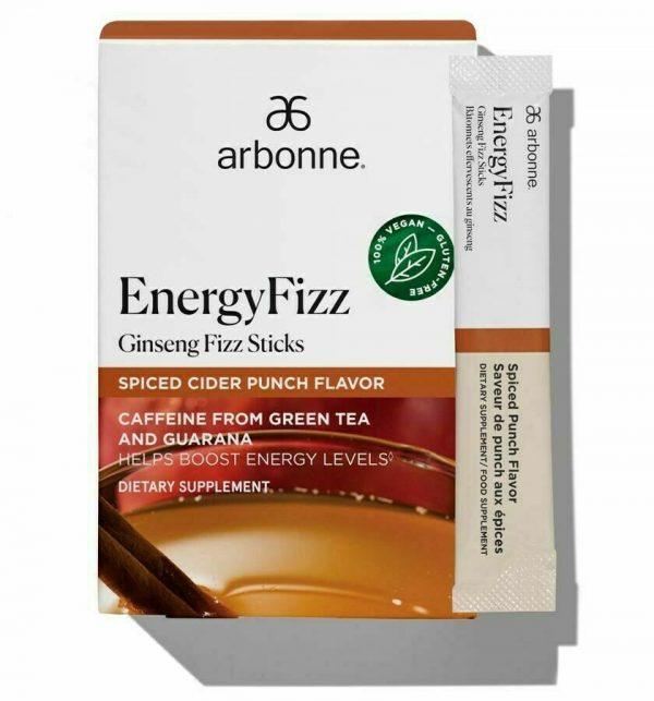 SALE 30 ARBONNE Energy Fizz Sticks - Ginseng Fizz, Spiced cider Flavor