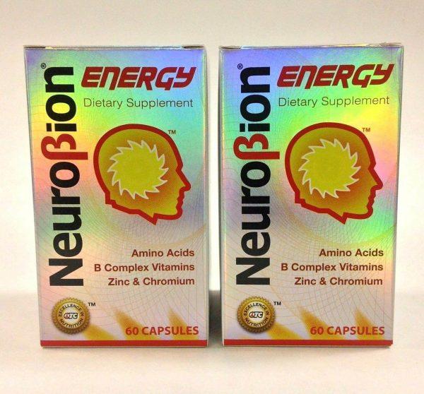 2 BOTTLES OF NEUROBION ENERGY 60 CAPSULES