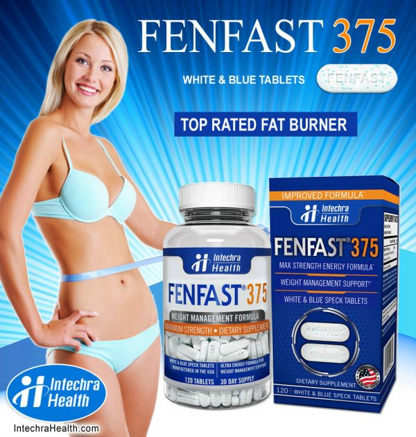 Fenfast 375 Weight Loss Diet Pills with Powerful Energy 120 White/Blue Tablets 5