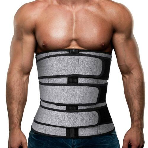 Men's Sweat Sauna Waist Trainer Weight Loss Neoprene Corset Cincher Body Shaper