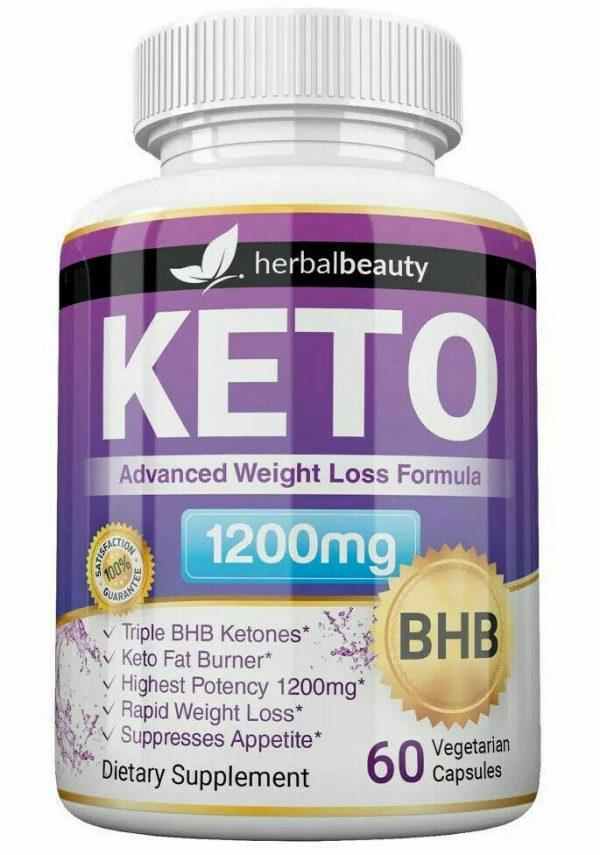 Keto Weight Loss Slim Pills Advanced BHB Fat Burner 1200mg PURE Keto Supplements 3