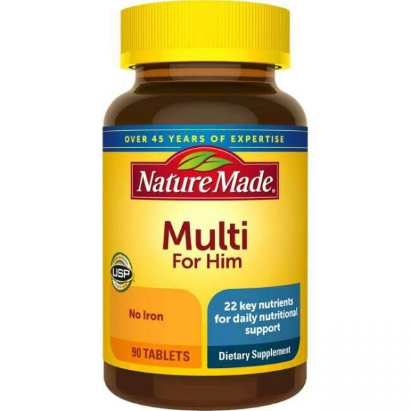 Nature Made Multivitamins Multi For Him No Iron Tablet 90ct