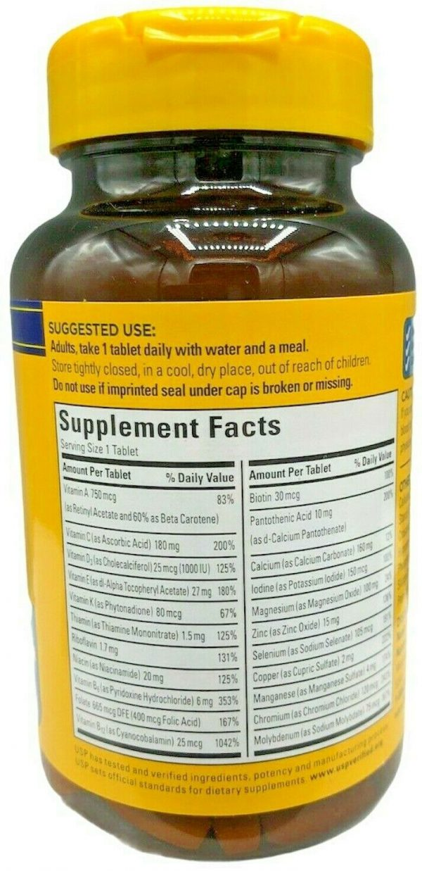 Nature Made Multi For Him 50+ Daily Nutritional Support Exp 09/2022 1